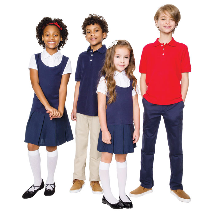 Mills Wear is a school uniform provider that specializes in creating programs that reflect the schools identity. You can find retail stores nationwide, on campus, or personalized web stores. Since Mills uniforms are school specific find your school on their homepage.